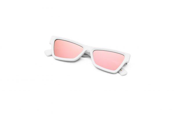 White/Mirrored Pink