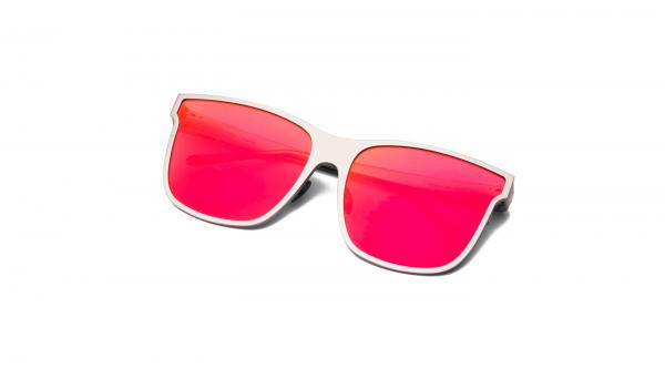 Matt Silver/Mirrored Red