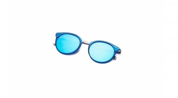 Transparent Blue/Blue Silver Mirror