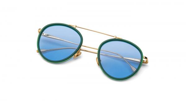 Green-Gold/Light Blue