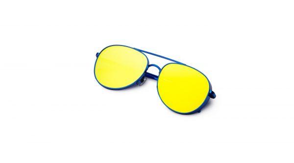 Metal Blue/Mirrored Yellow